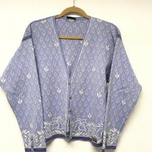 Dale Norway Cardigan Nordic Fair Isle Pewter Butto